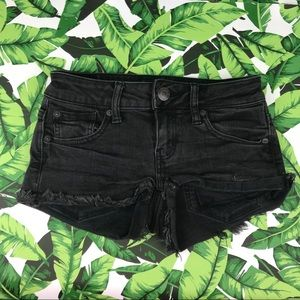 5 for $25 American Eagle Black Super Low Shortie